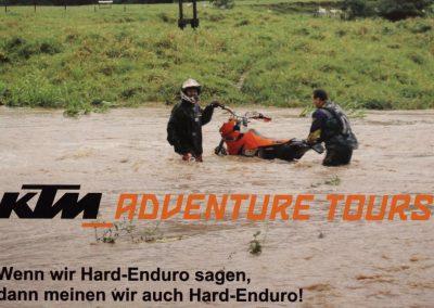 Auf Brasilientour oder mit anderen Worten: Wenn plötzlich viel Wasser auf einmal daherkommt. Damit wird man dann auch schnell zur Werbefigur.